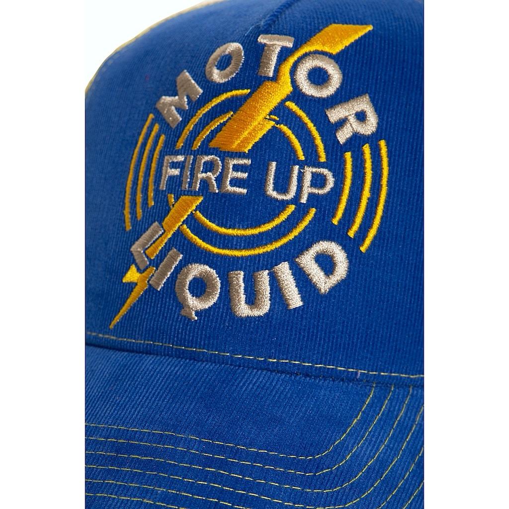 KingKerosin Flat Cap »Fire Up«, aus Feincord mit kontrastierendem Mesh
