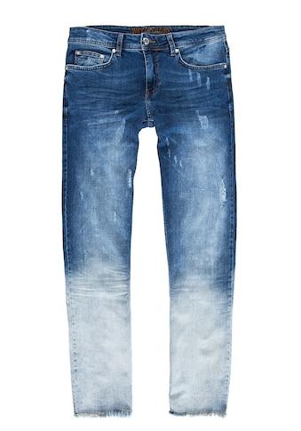 Way of Glory Destroyed-Jeans »Carlos«, im Dip Dye Look kaufen