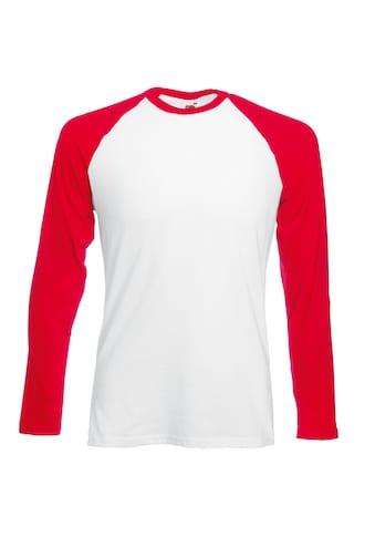 Fruit of the Loom Longsleeve »Herren Baseball T-Shirt, langärmlig« kaufen