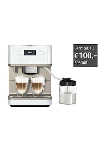 Stand - Kaffeevollautomat, Miele, »CM 6360 MilkPerfection  -  Lotosweiß  -  CleanSteelMetallic« kaufen