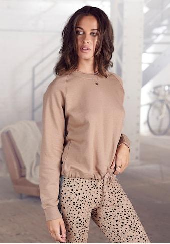 Buffalo Sweatshirt, mit regulierbaren Kordelzug am Saum kaufen