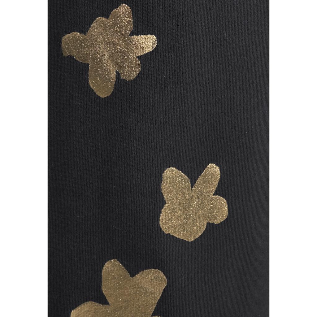 Arizona Pyjama, mit glänzendem Blumenprint
