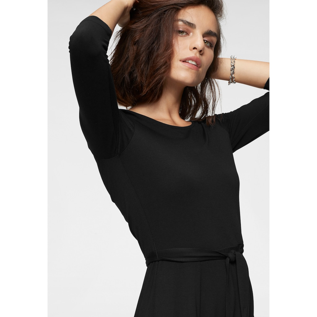 Tamaris Jerseykleid, mit Bindegürtel