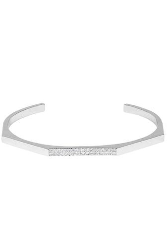 DKNY Armspange »NYC Geometric Skinny Pave Cuff (RH), 5548738«, mit Swarovski® Kristallen kaufen