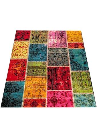 Paco Home Teppich »Canvas 790«, rechteckig, 16 mm Höhe, sehr robust, schmutzabweisend, Wohnzimmer kaufen