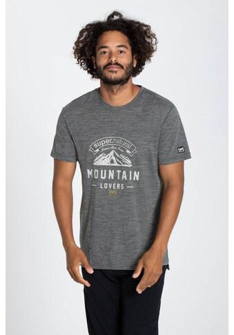 SUPER.NATURAL T-Shirt »M MOUNTAIN LOVE TEE«, lässiger Print, Merino-Materialmix kaufen