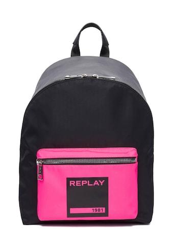 Replay Cityrucksack, mit auffälligem Logo-Druck kaufen