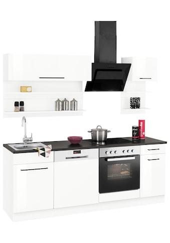 HELD MÖBEL Küchenzeile »Tulsa«, ohne E-Geräte, Breite 210 cm, schwarze Metallgriffe, hochwertige MDF Fronten kaufen