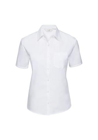 Russell Kurzarmbluse »Collection Damen Easy Care Popelin-Hemd / Bluse / Hemd, Kurzarm« kaufen