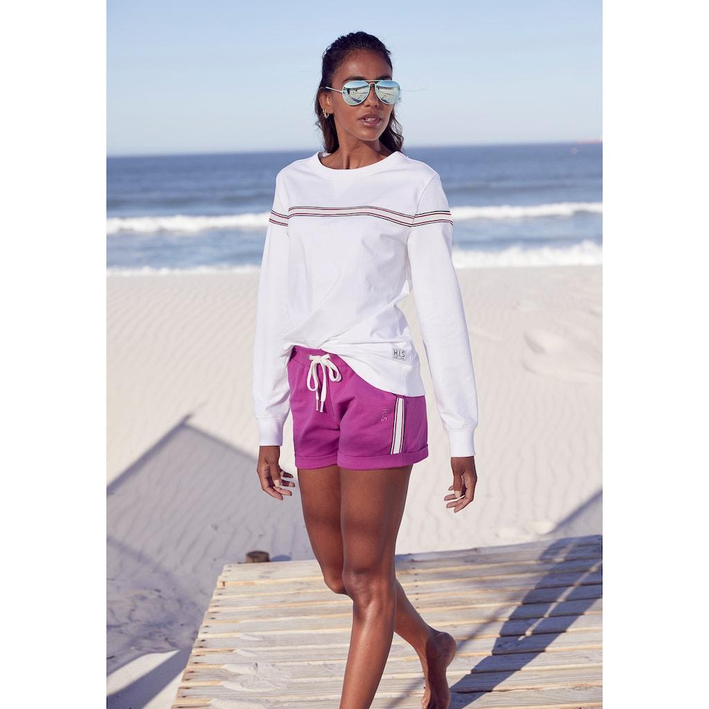 H.I.S Sweater, mit kontrastfarbigem Tape