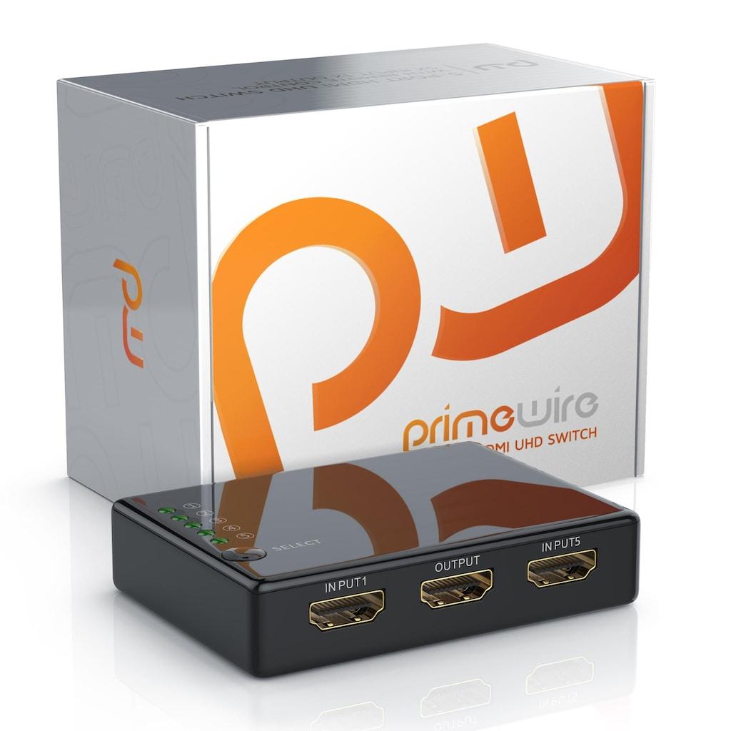 Primewire 5-Port UHD HDMI Switch inkl. Fernbedienung