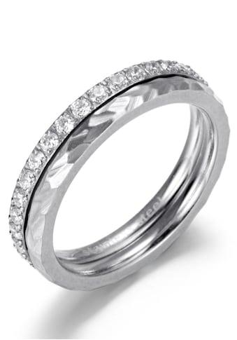 Firetti Ring-Set »4,0 mm, glänzend, matt, teilweise strukturiert, schlicht, zeitlos«,... kaufen