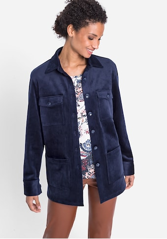 Olsen Cordjacke, im Hemd Stil kaufen
