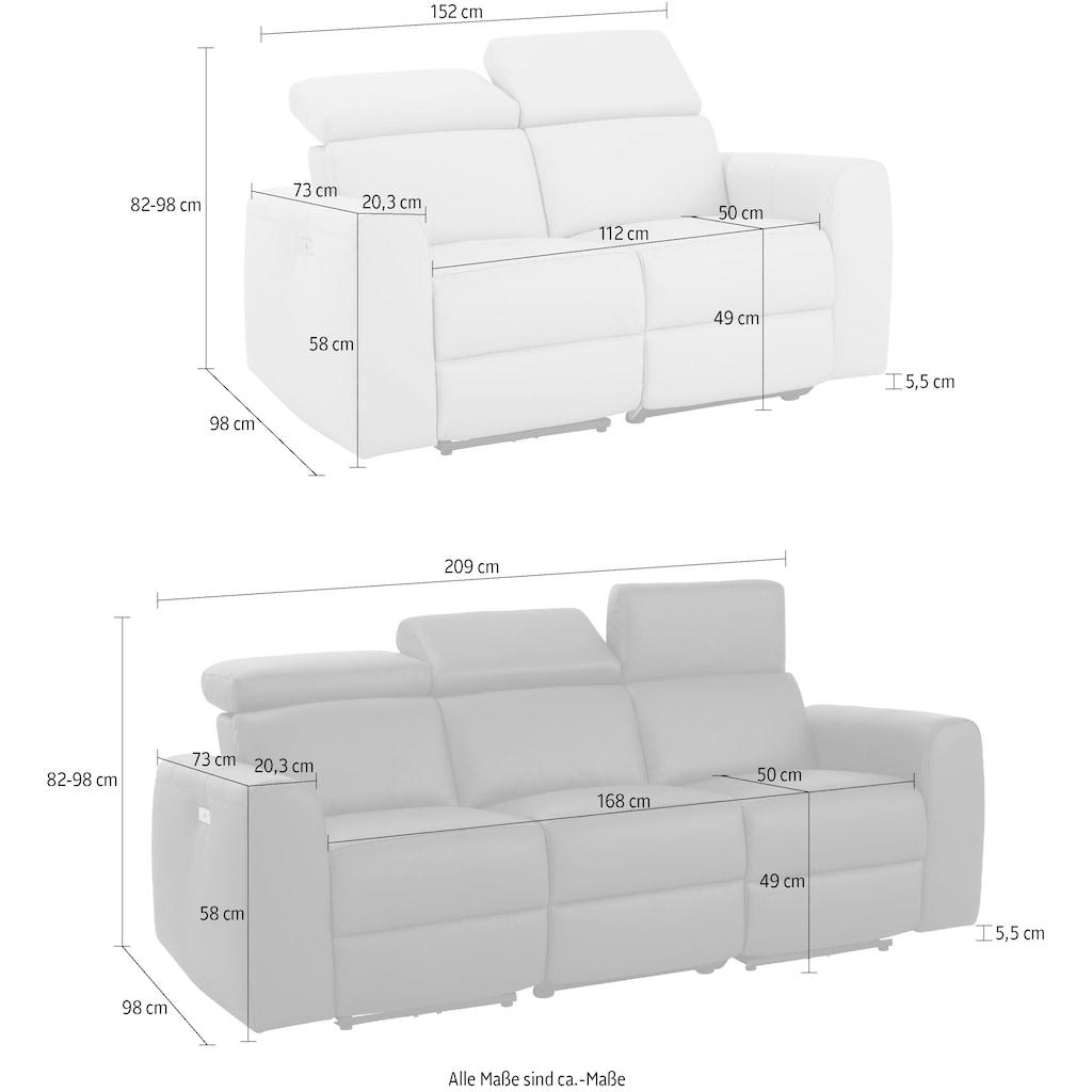 Home affaire Polstergarnitur »Sentrano«, (Set, 2 St.), bestehend aus dem 2- und 3 Sitzer, wählbar zwischen manueller oder elektrischer Relaxfunktion