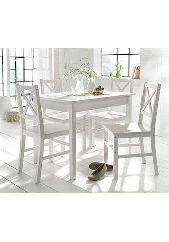 Home affaire Essgruppe, (Set, 5 tlg.), mit kleinem oder großem Tisch kaufen