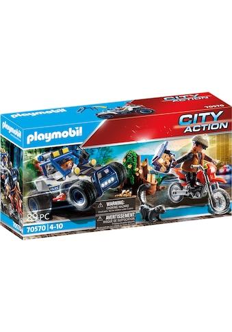 Playmobil® Konstruktions-Spielset »Polizei-Geländewagen: Verfolgung des Schatzräubers... kaufen