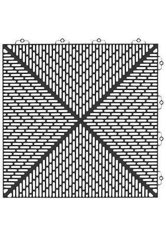 Bergo Flooring Terrassenplatten »Unique Anthrazit«, Kunststofffliesen, einfach ineinanderstecken, 2 m² kaufen