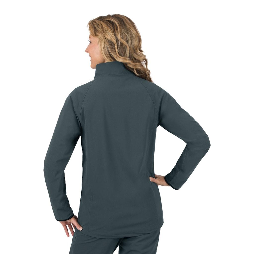 Trigema Raglan-Jacke mit Netzinnenfutter