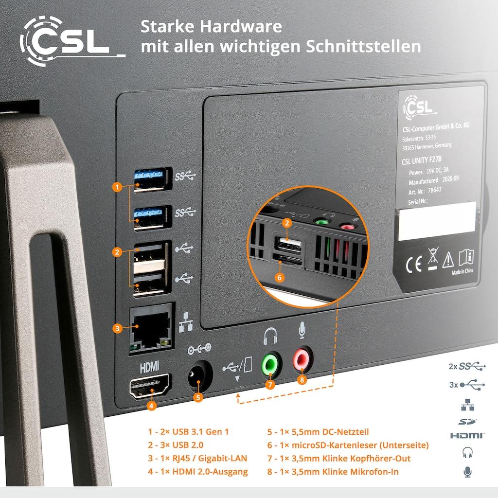 CSL All-in-One PC »Unity F27-GLS mit Windows 10 Pro«
