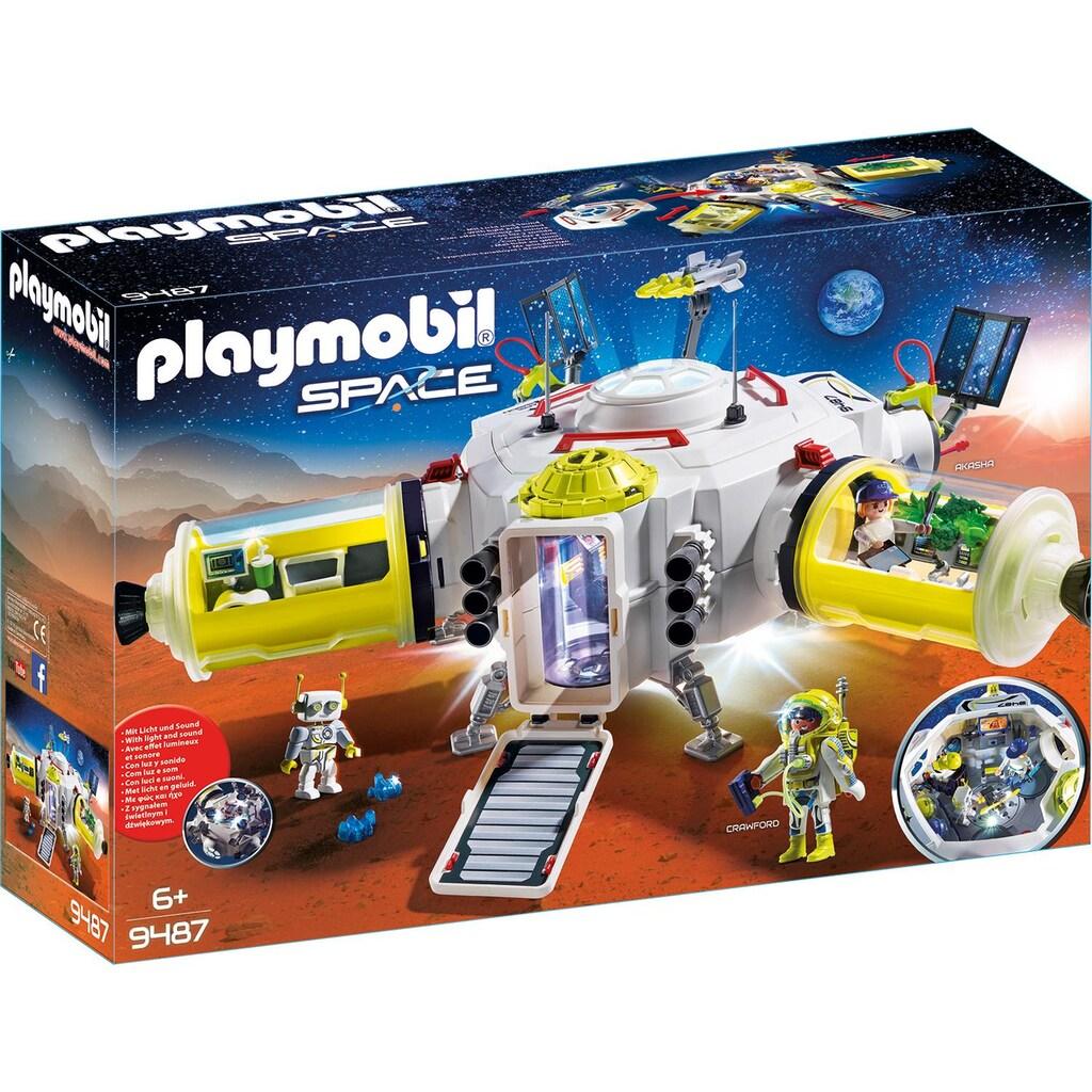 Playmobil® Konstruktions-Spielset »Mars-Station (9487), Space«, mit vielfältigen Licht- und Soundeffekten, Made in Germany