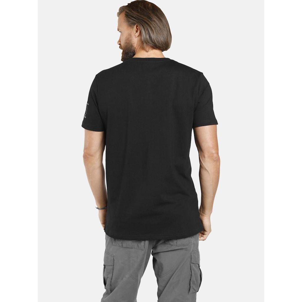 Jan Vanderstorm Rundhalsshirt »PAALE«, T-Shirt mit Serafinokragen
