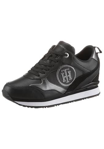 Tommy Hilfiger Sneaker »METALLIC DRESSY WEDGE SNEAKER«, mit TH-Logo kaufen