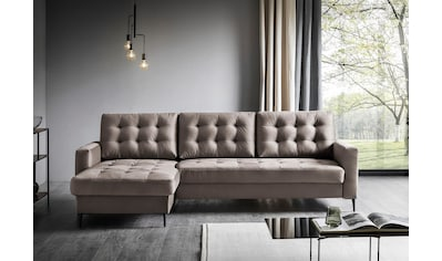 Places of Style Ecksofa »Fontana«, wahlweise mit Bettfunktion kaufen