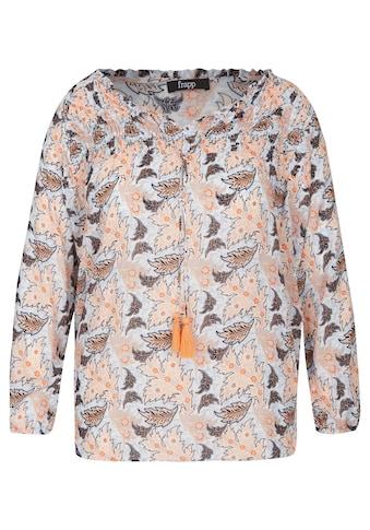 FRAPP Verspielte Bluse mit floralem Print kaufen
