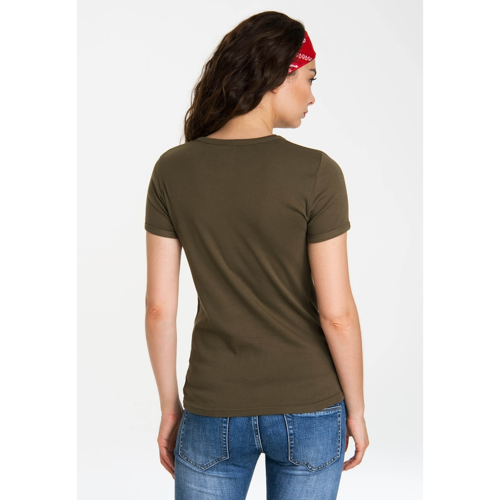 LOGOSHIRT T-Shirt »Iron Man«, mit lizenziertem Originaldesign