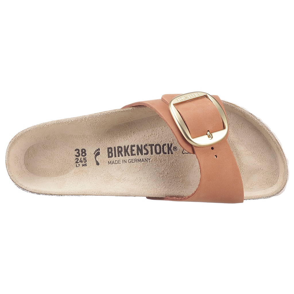 Birkenstock Pantolette »MADRID«, mit auffälliger Schnalle, Schuhweite: schmal, Leder