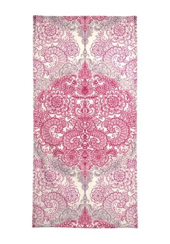 "Handtuch ""Happy Place Doodle in Pink"", Juniqe kaufen"