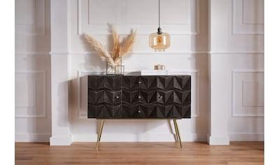 Guido Maria Kretschmer Home&Living Sideboard »Brüssel«, teilmassives Sideboard mit... kaufen