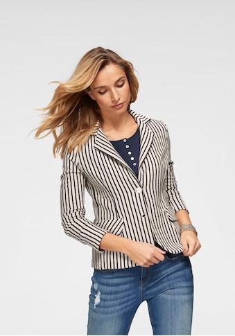 Aniston CASUAL Sweatblazer, im Streifen Dessin kaufen