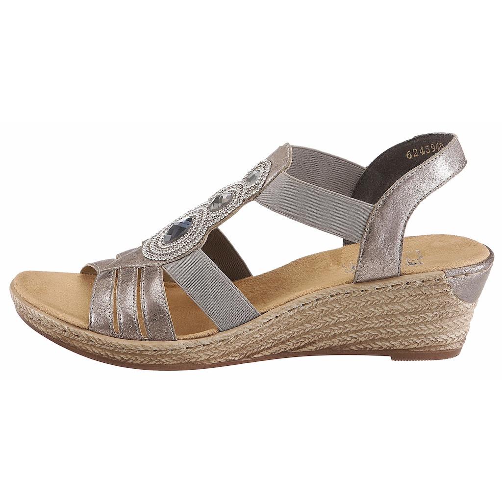 Rieker Sandalette, mit Keilabsatz