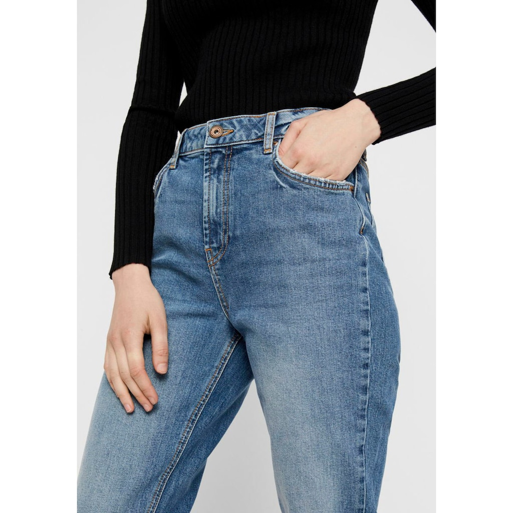 pieces Mom-Jeans »PCLEAH«, Leichter Stretch