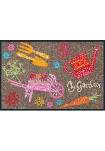 wash+dry by Kleen-Tex Fußmatte »My Garden«, rechteckig, 7 mm Höhe, Schmutzfangmatte,... kaufen
