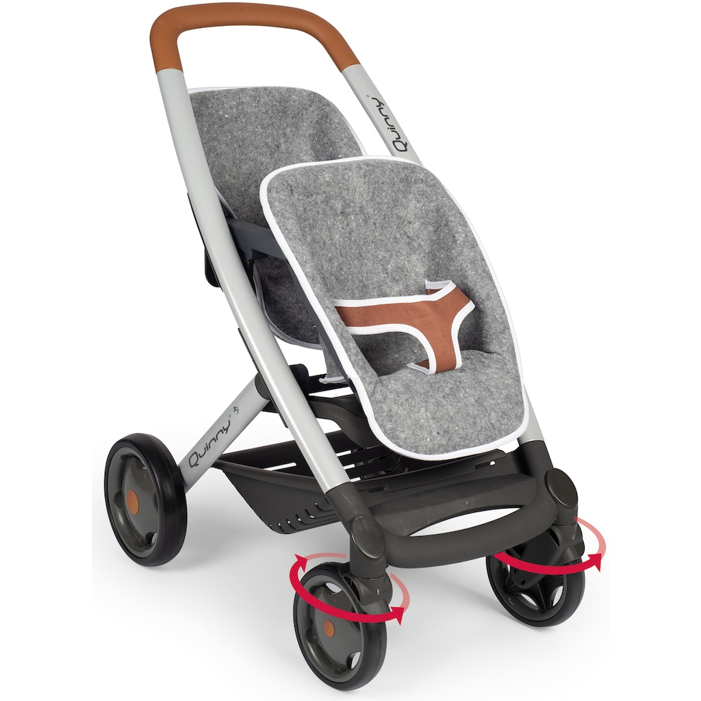 Smoby Puppen-Zwillingsbuggy »Quinny, grau«, Made in Europe
