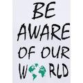 OTTO products T-Shirt, nachhaltig aus zertifizierter Bio-Baumwolle mit Statement-Druck