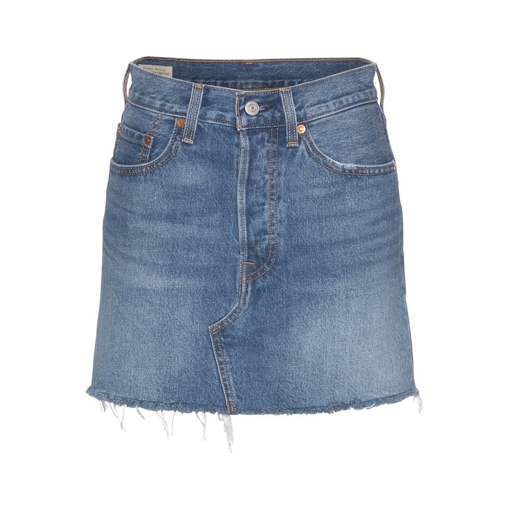 Levi's® Jeansrock »High Rise Deconstructed Skirt«, Mit leicht ausgefranster Kante