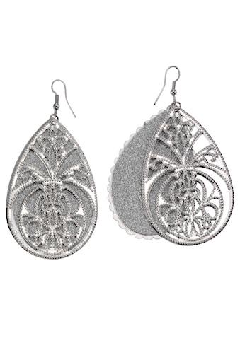 J.Jayz Paar Ohrhaken »Tropfen mit Ornamente« kaufen