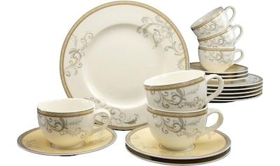 CreaTable Kaffeeservice »Villa Medici«, (Set, 18 tlg.), Porzellan kaufen
