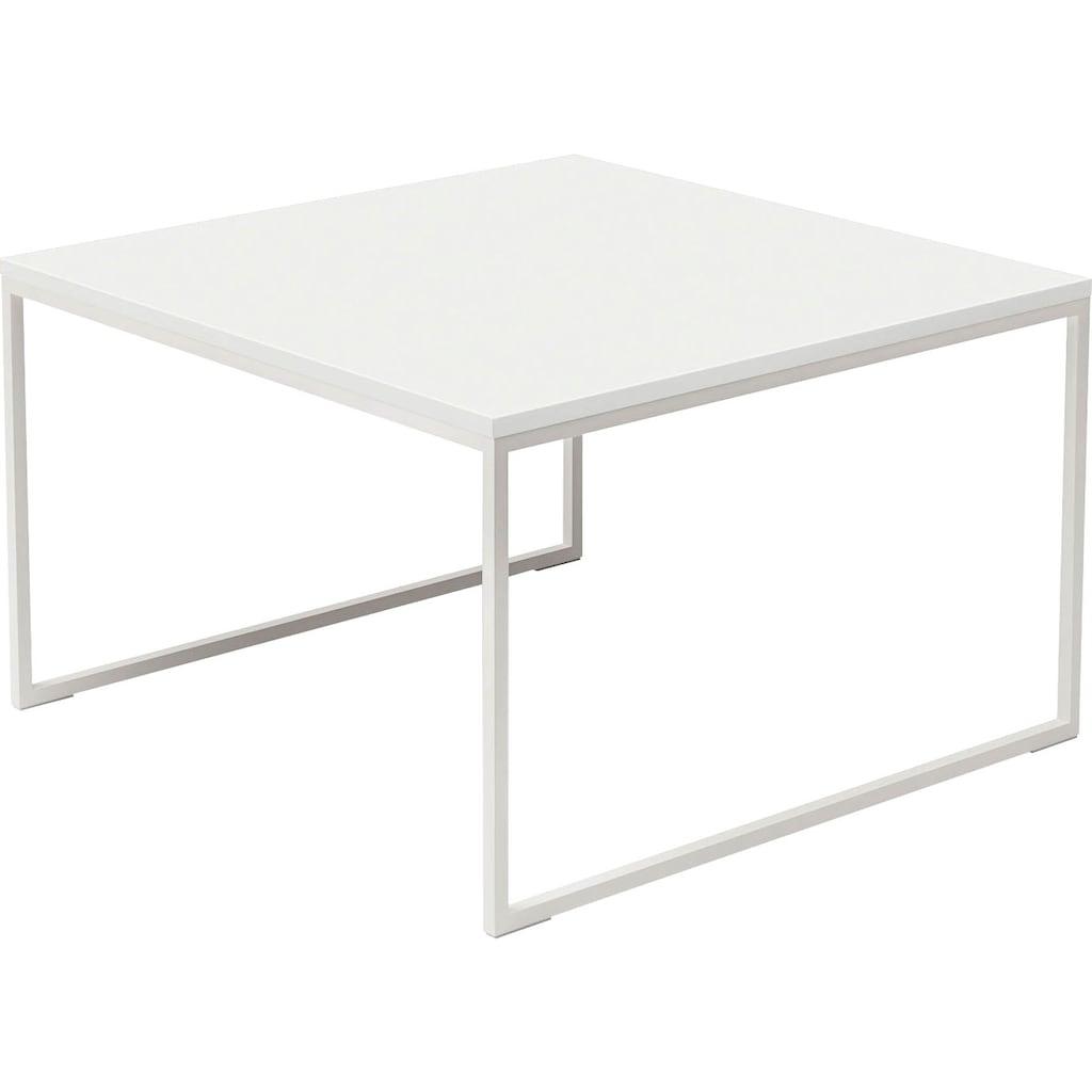 now! by hülsta Beistelltisch »CT 17«, quadratisch, mit weißem Gestell, Höhe 43,4 cm