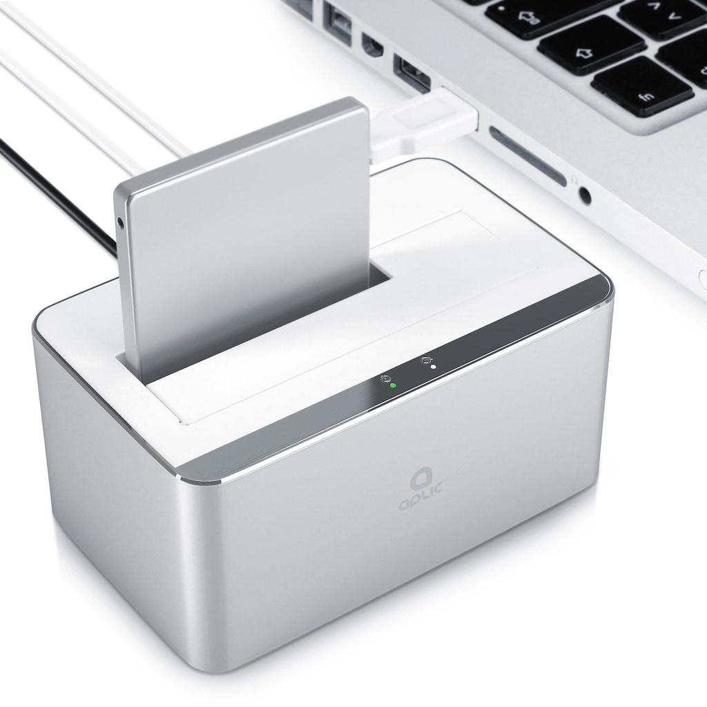 """Aplic USB 3.0 Festplatten Dockingstation im Aluminium Gehäuse »PC & MAC / 2,5"""" + 3,5"""" / HDD + SSD«"""