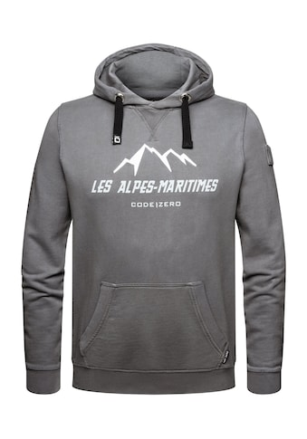 CODE-ZERO Hoodie »Alpes-Maritimes Hoodie«, mit Label-Applikationen kaufen