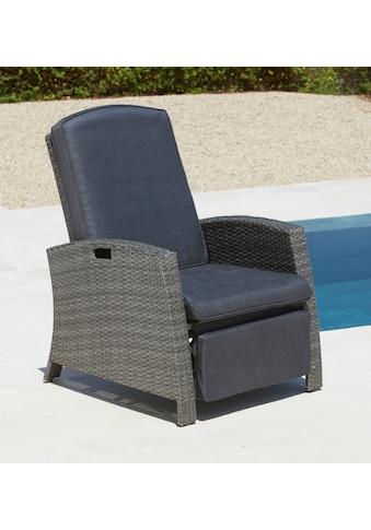 KONIFERA Relaxsessel »Relaxsessel«, Polyrattan, verstellbar, inkl. Auflagen kaufen