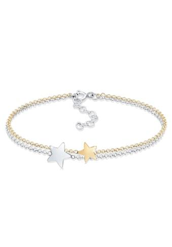 Elli Armband »Bi-Color Astro Layer Sterne Erbskette 925er Silber« kaufen