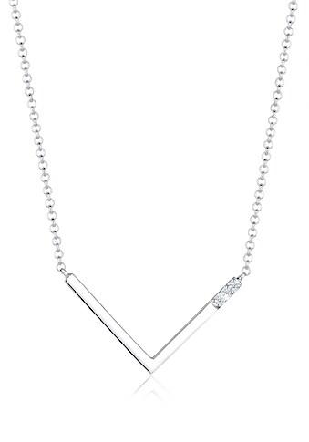 Diamore Collierkettchen »V-Kette Geo Diamant (0.045 ct.) 925 Silber« kaufen