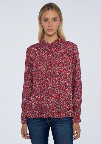 Pepe Jeans Hemdbluse »CAMELIA«, mit tollem verschnörkelten allover Print kaufen