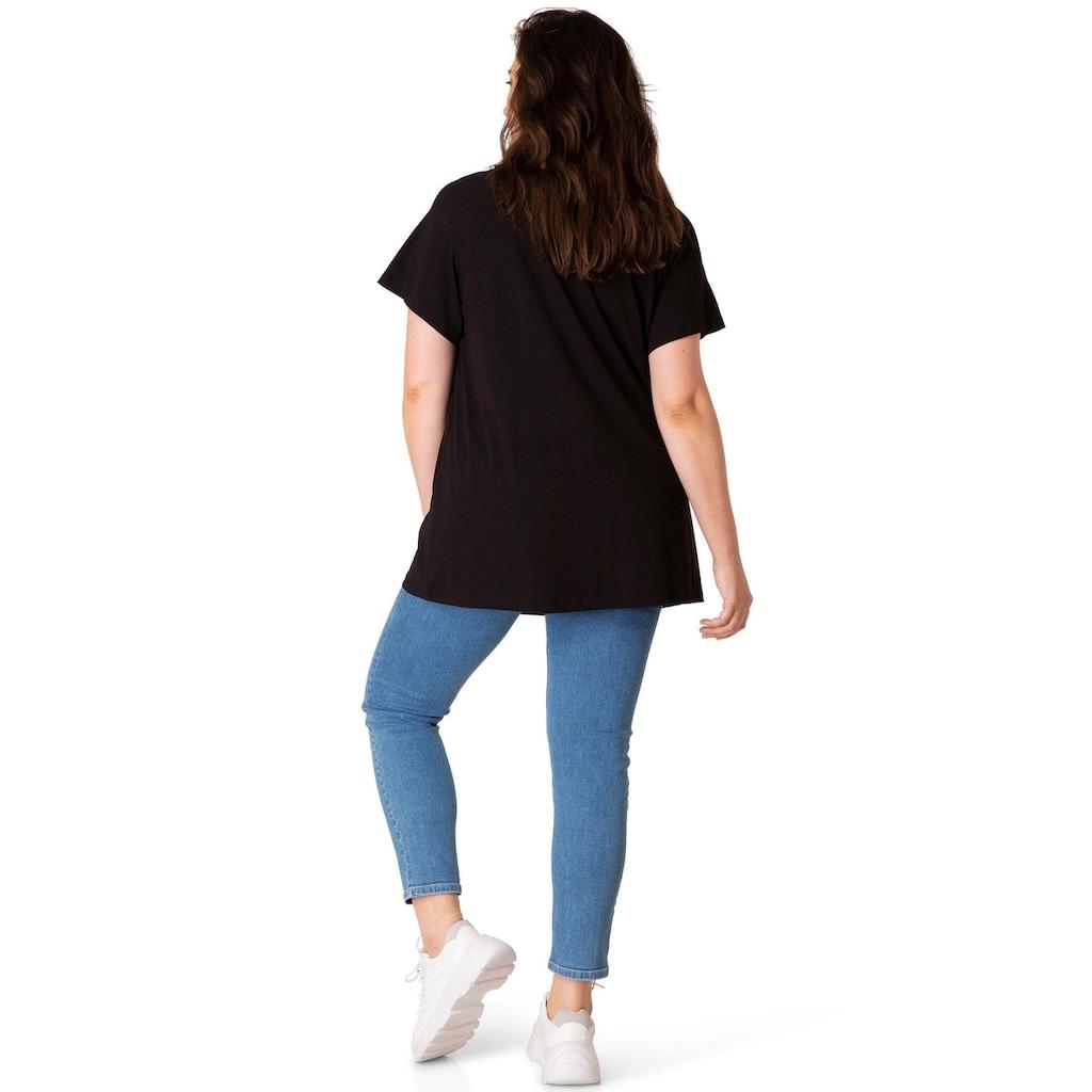 BSIC by Yesta T-Shirt »Yokia«, Am Ausschnitt leicht angekraust