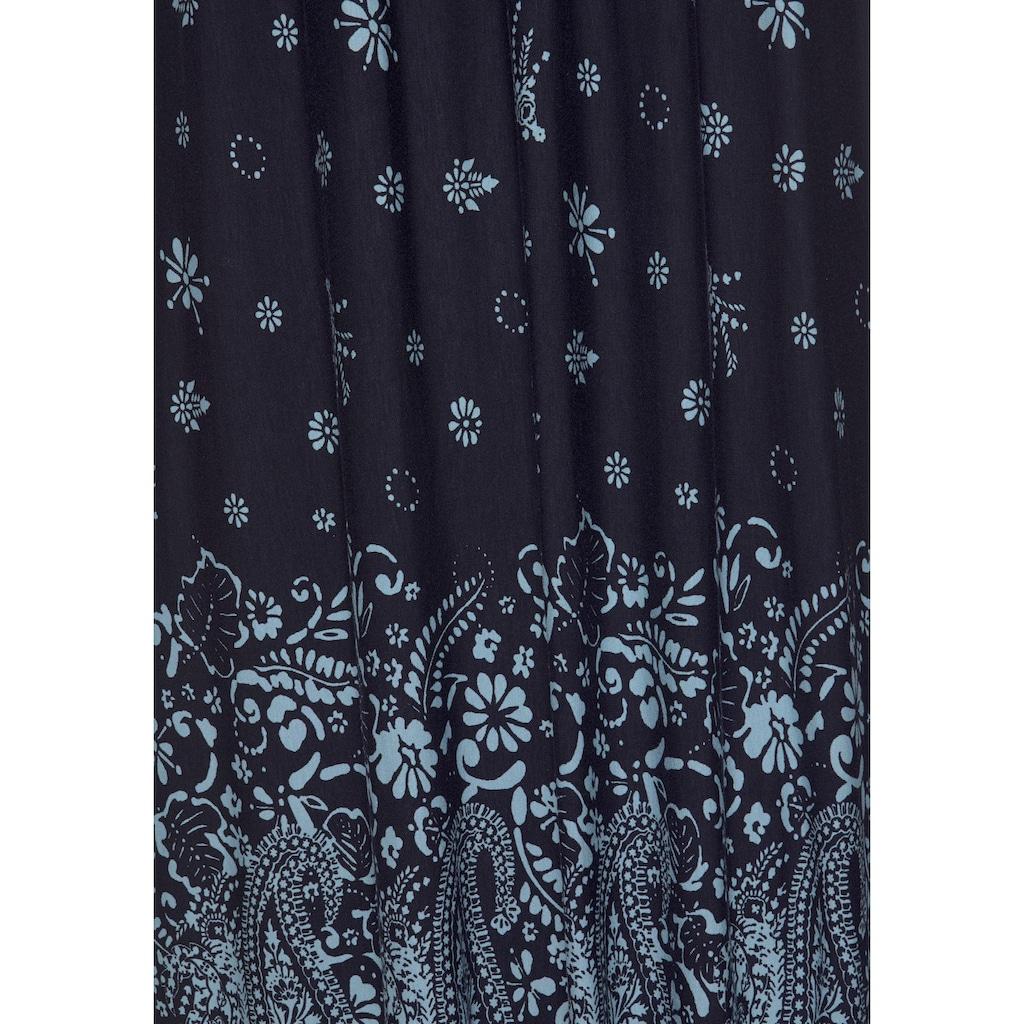 s.Oliver Beachwear Maxikleid, mit Bordürenprint